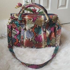 Snake Skin Embossed Multicolor Over Size Bag